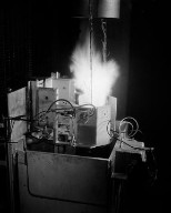 K-24 CAMERA SEQUENCES OF ATLANTIC GRAIN - ARCITE ROCKET FIRING IN THE ALTITUDE WIND TUNNEL AWT