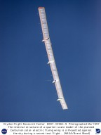 Quarter-scale Model of Solar-powered Centurion Ultra-high-altitude Flying Wing in Flight during Firs