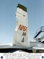 F-18 SRA with Smart Skin Antenna replacing right tail fin end cap