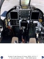 F-18 cockpit and instrument panel