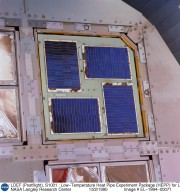 LDEF (Postflight), S1001 : Low-Temperature Heat Pipe Experiment Package (HEPP) for LDEF, Tray H01