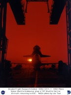 Shuttle Endevour Loaded onto SCA-747 Exiting the Mate-Demate Device for Return to Kennedy Space Cent