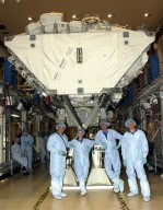 STS-112 crew in front of S0 Truss Structure