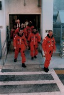 STS-72 Crew Walkout during TCDT