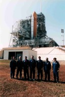 STS-75 crew at Launch Pad 39B during TCDT