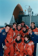 STS-78 Crew at Pad 39B during TCDT