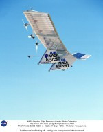 Pathfinder aircraft taking off - setting new solar powered altitude record