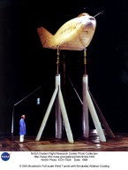 X-24A Mounted in Full-scale Wind Tunnel with Simulated Ablative Coating