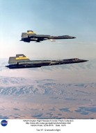 Two YF-12 aircraft in flight