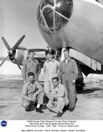 B-29 mothership with pilots - Payne, Butchart, Walker, Littleton, and Moise