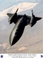 SR-71B - in Flight - View from Air Force Tanker