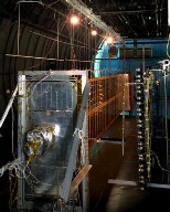 COMMUNICATION TECHNOLOGY SATELLITE CTS SOLAR ARRAY DURING QUALIFICATION TESTING AT NASA LEWIS RESEAR