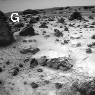 Sojourner Rover View of Cloddy Deposits near Pooh Bear