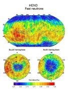 HEND Maps of Fast Neutrons