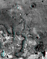SRTM Anaglyph: Inverted Topography, Patagonia, Argentina