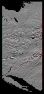 Anaglyph of Shaded Relief New York State, Lake Ontario to Long Island
