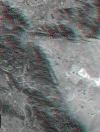 SRTM Anaglyph with Landsat Overlay: Los Angeles to San Joaquin Valley, California