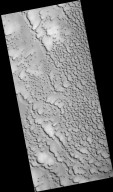 Frost-Covered Dunes in the North Polar Region