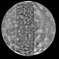 View of Callisto from Voyager and Galileo