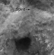Spirit Rover on 'Husband Hill'