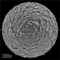 South Pole Region of the Moon as Seen by Clementine