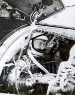 Astronaut John Glenn Undergoes Simulated Orbital Flight Training