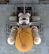 Overhead View of Atlantis Stack Rollout