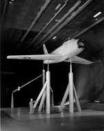 F-86 in Full Scale Wind Tunnel at Ames