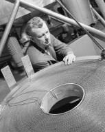 Photo of Edmund Callaghan with Cryogenic Magnet