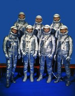 Original 7 Astronauts in Spacesuits