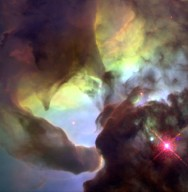 Giant Twisters in the Lagoon Nebula