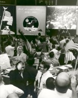 Mission Control Celebrates After Conclusion of the Apollo 11 Lunar