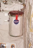 A GetAway Special canister (GAS can) filled with student experiments is installed in Discovery?s payload bay for mission STS-102. STS-102 is the 8th construction flight to the International Space Station and will carry the Multi-Purpose Logistics Module Leonardo. STS-102 is scheduled for launch March 1, 2001. On that flight, Leonardo will be filled with equipment and supplies to outfit the U.S. laboratory module Destiny. The mission will also be carrying the Expedition Two crew to the Space Station, replacing the Expedition One crew who will return on Shuttle Discovery