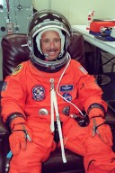 KENNEDY SPACE CENTER, Fla. -- During pre-launch preparations, STS-105 Commander Scott Horowitz smiles in anticipation of liftoff. On the mission, Discovery will be transporting the Expedition Three crew and several scientific experiments and payloads to the ISS, including the Early Ammonia Servicer (EAS) tank. The EAS, which will support the thermal control subsystems until a permanent system is activated, will be attached to the Station during two spacewalks. The three-member Expedition Two crew will be returning to Earth aboard Discovery after a five-month stay on the Station. Launch is scheduled for 5:38 p.m. EDT Aug. 9