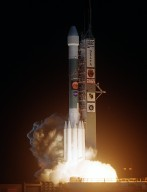 KENNEDY SPACE CENTER, FLA. - NASA launches its second Mars Exploration Rover, Opportunity, aboard a Delta II launch vehicle. The bright glare briefly illuminated Florida Space Coast beaches. Opportunity?s dash to Mars began with liftoff at 11:18:15 p.m. Eastern Daylight Time from Cape Canaveral Air Force Station, Fla. The spacecraft separated successfully from the Delta's third stage 83 minutes later, after it had been boosted out of Earth orbit and onto a course toward Mars.