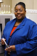 KENNEDY SPACE CENTER, FLA. - Dionne B. Jackson is a Materials Science engineer in the Spaceport Engineering and Technology Directorate. She is responsible for testing and identifying materials and chemicals that are used for the Shuttle Program, International Space Station Program and the Launch Services Program. Jackson has been a permanent NASA KSC employee since 1991.