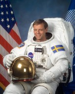 KENNEDY SPACE CENTER, FLA. - JSC2003-E-31747 (31 Jan 2003) - Astronaut Christer Fuglesang, mission specialist representing the European Space Agency (ESA).