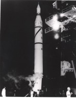 KENNEDY SPACE CENTER, FLA. -- Explorer I, the first American satellite, is scheduled to be launched from Cape Canaveral on Jan. 29, 1958