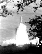 KENNEDY SPACE CENTER, FLA. -- Titan/Centaur-7 lifted off from Complex 41 at Cape Canaveral Air Force Station at 10:29 a.m. EDT today to send an 1,800-pound Voyager spacecraft on an odyssey through the outer planets. A sister spacecraft is to be hurled away from the Sun on a similar journey no earlier than Sept. 1.