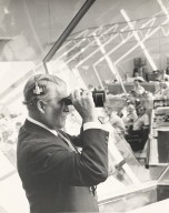 Wernher von Braun Takes a Close Look at Apollo 15 Launch