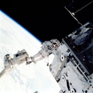 STS-110 Astronaut Jerry Ross Performs Extravehicular Activity (EVA)
