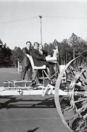 Dr. von Braun on the Mobility Test Article (MTA)