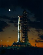 Saturn V Vehicle for Apollo 4 at the Launch Complex 39A at the Kennedy Space Center