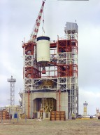 Saturn V S-IVB (Third) Stage at the Beta Test Stand 1
