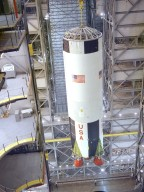 Saturn V S-IC (First) Stage for Apollo 8 in the Vehicle Assembly Building