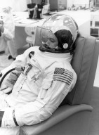 Apollo 11 Astronaut Collins Ready For Countdown Demonstration Test