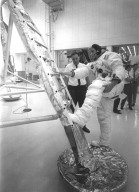 Apollo 11 Astronaut Neil Armstrong Performs Ladder Practice
