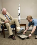 Former Astronaut Neil A. Armstrong Visits MSFC