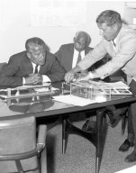 Von Braun and Rees in Space Sciences Laboratory