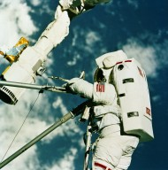 Thornton Performs Extra Vehicular Activity (EVA) During STS-49 Mission
